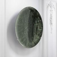 Decorative concave mirror 'Laguna S' Green