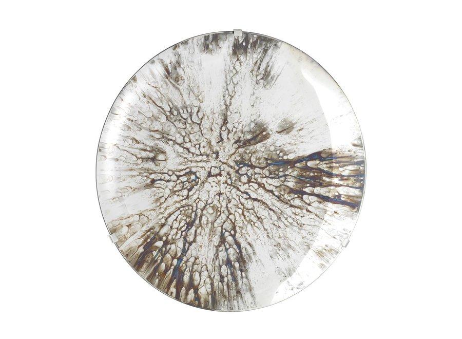 Decoratieve Concave spiegel 'Laguna S' Silver