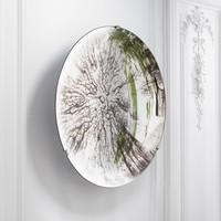 Dekorativer konkaver Spiegel 'Laguna S' Silver