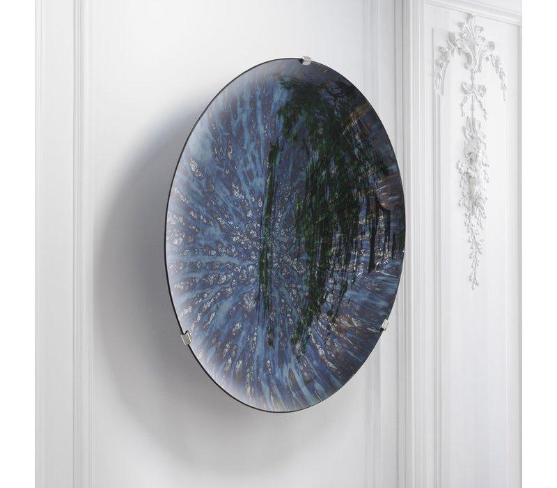 Decorative concave mirror 'Laguna S' Blue