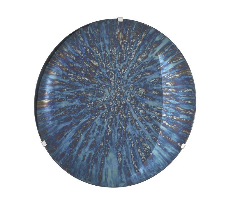 Dekorativer konkaver Spiegel 'Laguna S' Blue