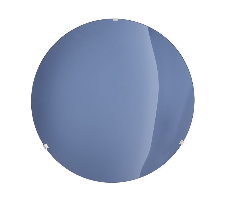 Dekorativer konkaver Spiegel 'Laguna S' Solid Blue
