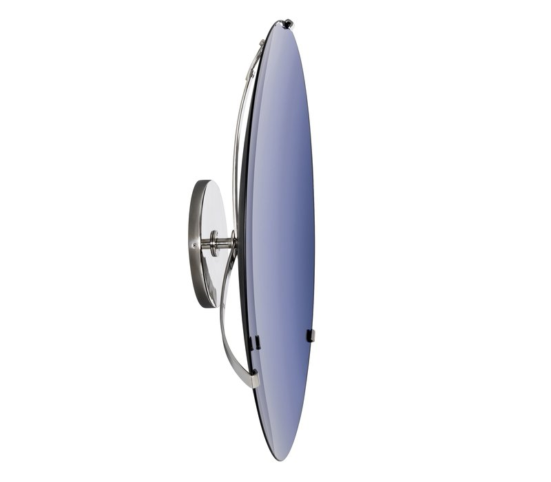 Decorative concave mirror 'Laguna S' Solid Blue