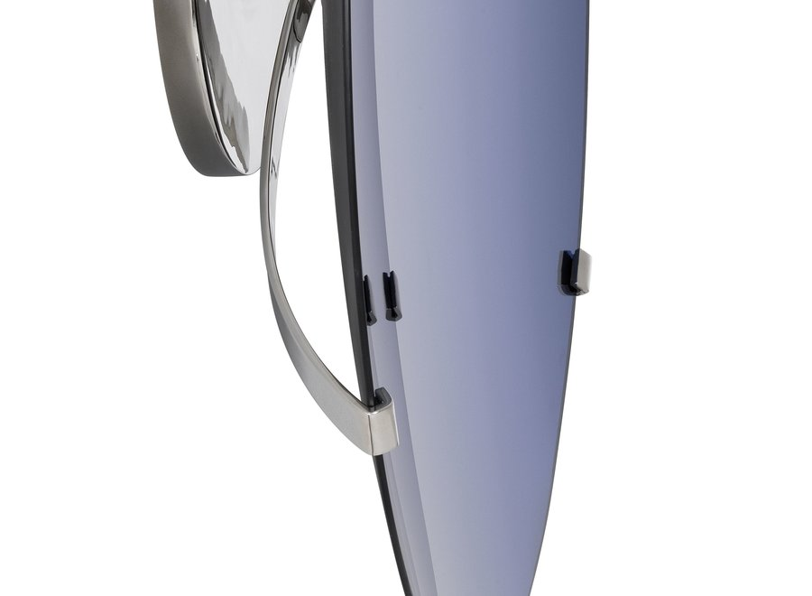 Decoratieve Concave spiegel 'Laguna S' Solid Blue