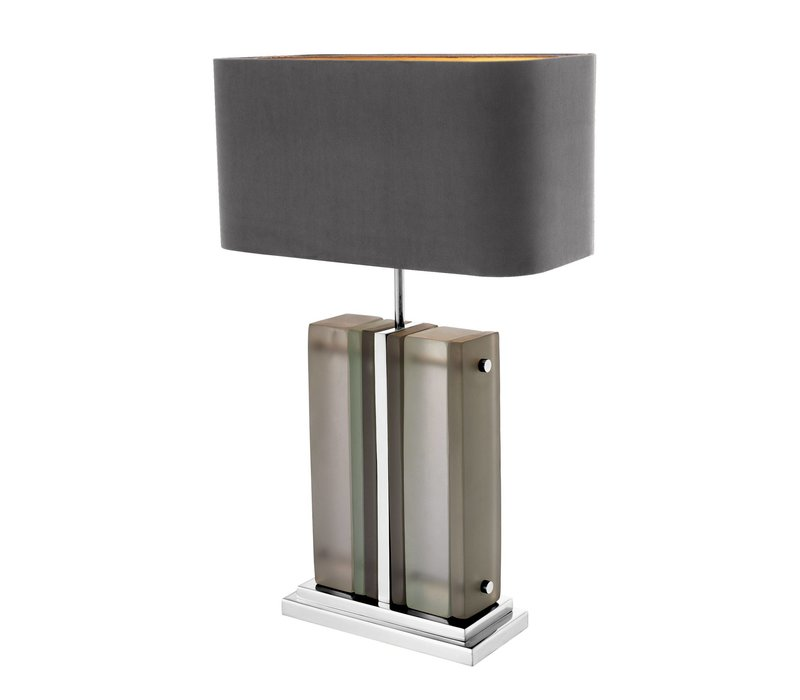 Table lamp 'Solana' with gray shade
