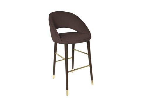 Dome Deco Bar chair'Bend' Ebony