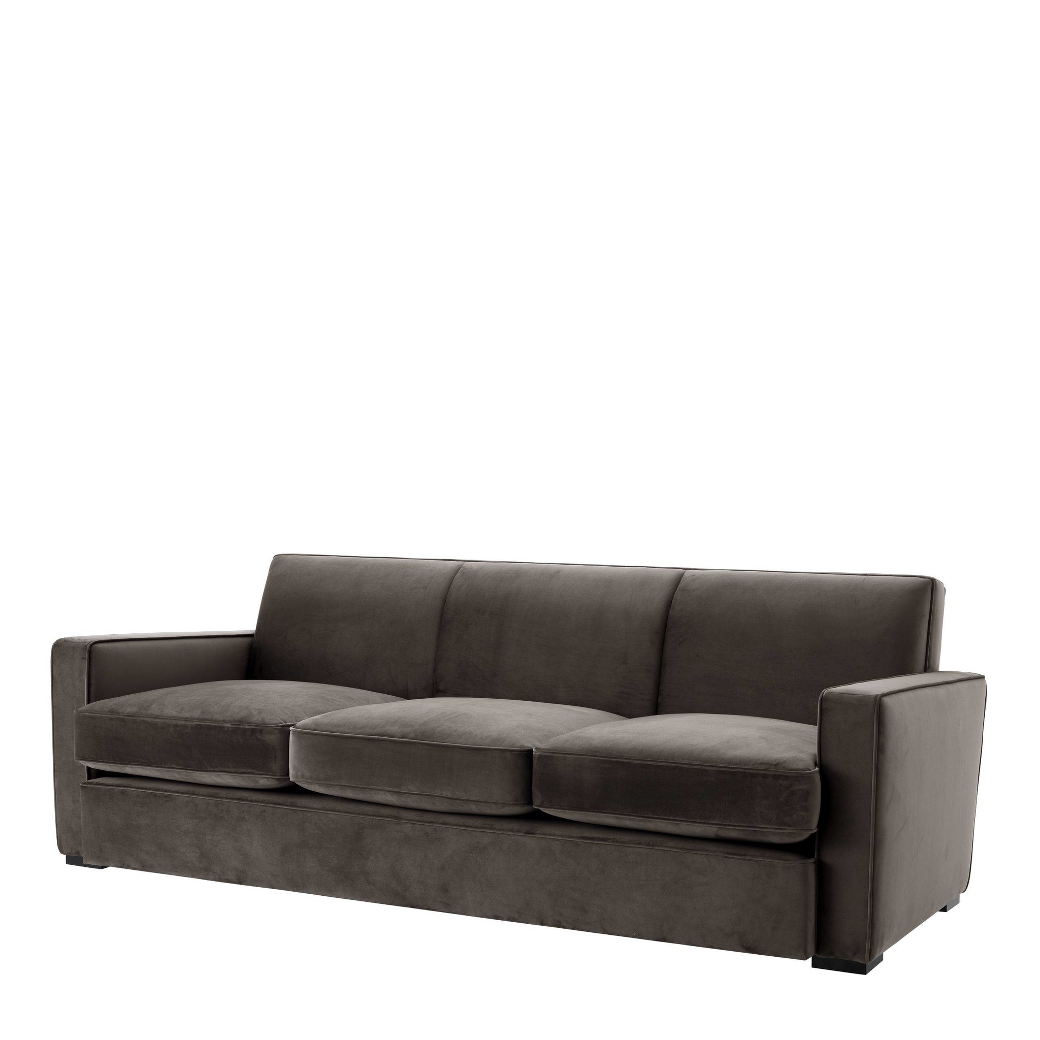 Sofa Edmond Grey Velvet