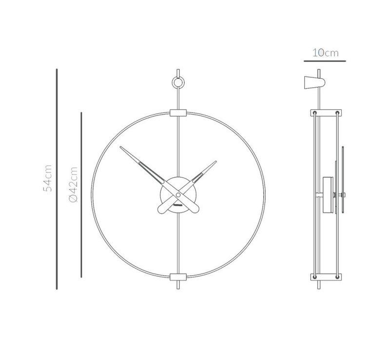 Design wall clock 'Micro Barcelona' T Graphite | Diameter = 42 cm