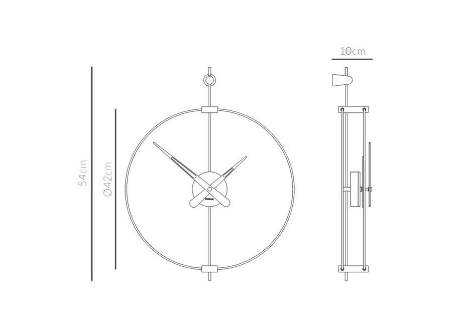 Design wandklok 'Micro Barcelona' T Graphite  | Diameter = 42 cm