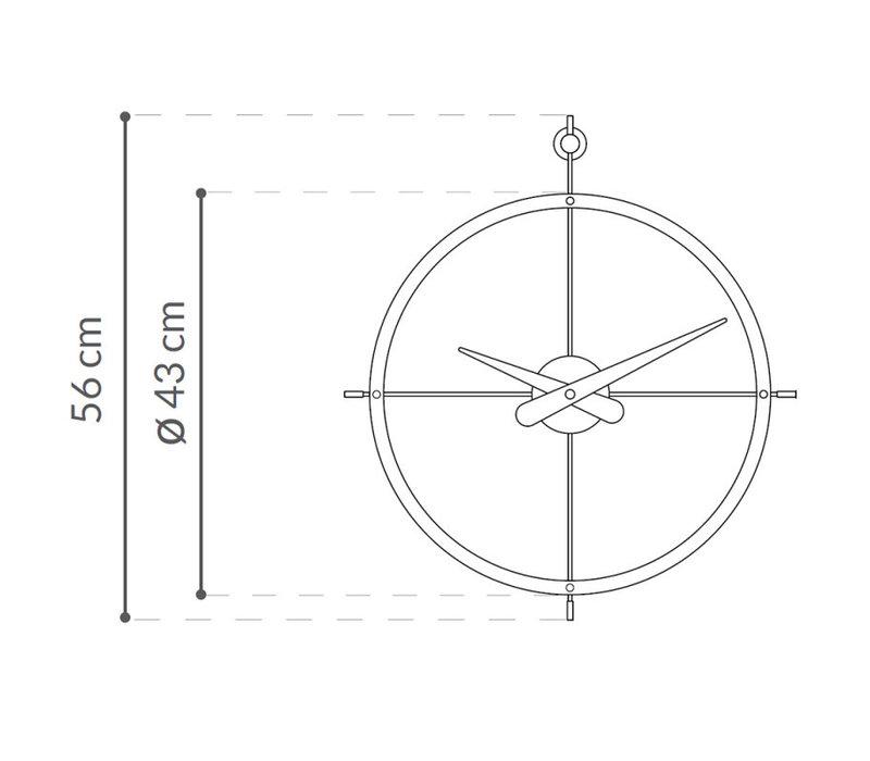 Design Wanduhr '2 Puntos' Calabo Holz Diameter 43 cm