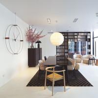 Wanduhr Wohnzimmer 'Delmori' mit einem Durchmesser von 140 cm