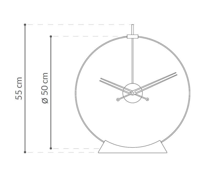 Tischuhr - Aire in gebeiztem Eschenholz, Durchmesser 50 cm.