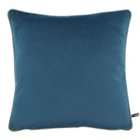 Cushion Rosana in color Vintage Blue + piping Sand