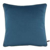 Dekokissen Rosana in der Farbe Vintage Blue + piping Sand