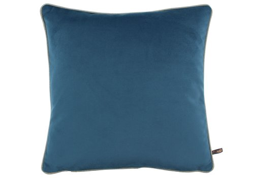 CLAUDI Kussen Rosana Vintage Blue + piping Sand