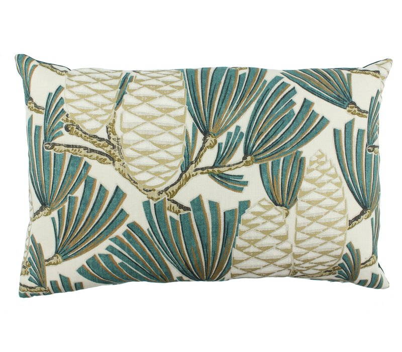 Zierkissen Florida Dark Mint / Gold