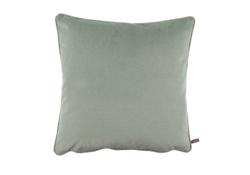 CLAUDI Cushion Rosana Celadon + piping Sand