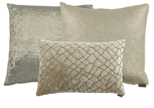CLAUDI Cushion combination Gold: Esta, Paolo & Paride