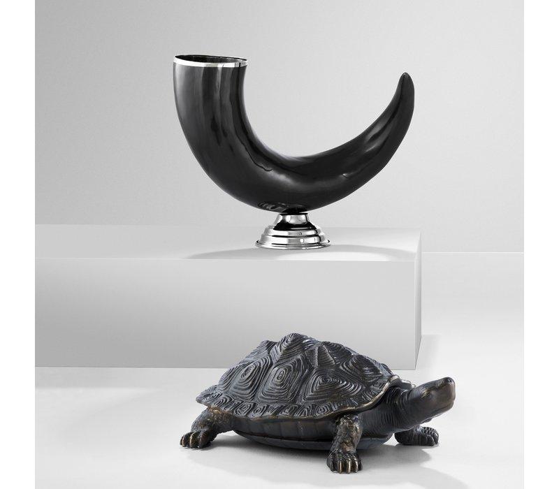 """Dekoratives Horn """"Capetown"""", Abmessungen 40 x 12 x H. 26 cm"""