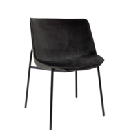 Dining chair 'Loop' Anthracite MIRAGLIO