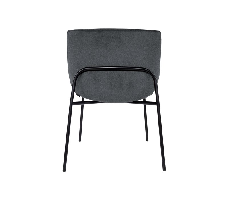 Dining chair 'Loop' Anthracite BAQUEIRA