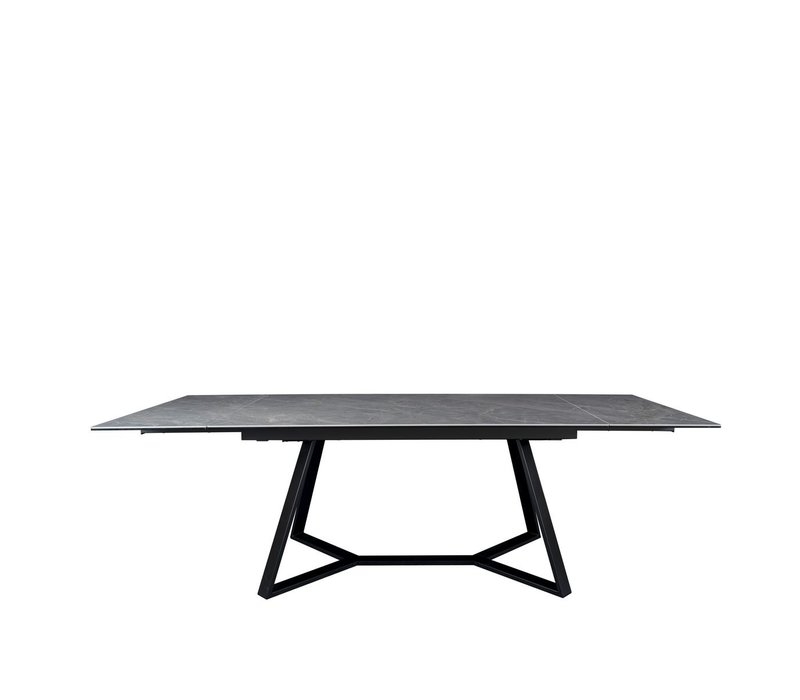 Dining table 'Extendable Etoile Gris' with ceramic table top