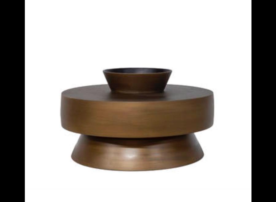 Aluminium vaas 'Toba' - Bronze - S