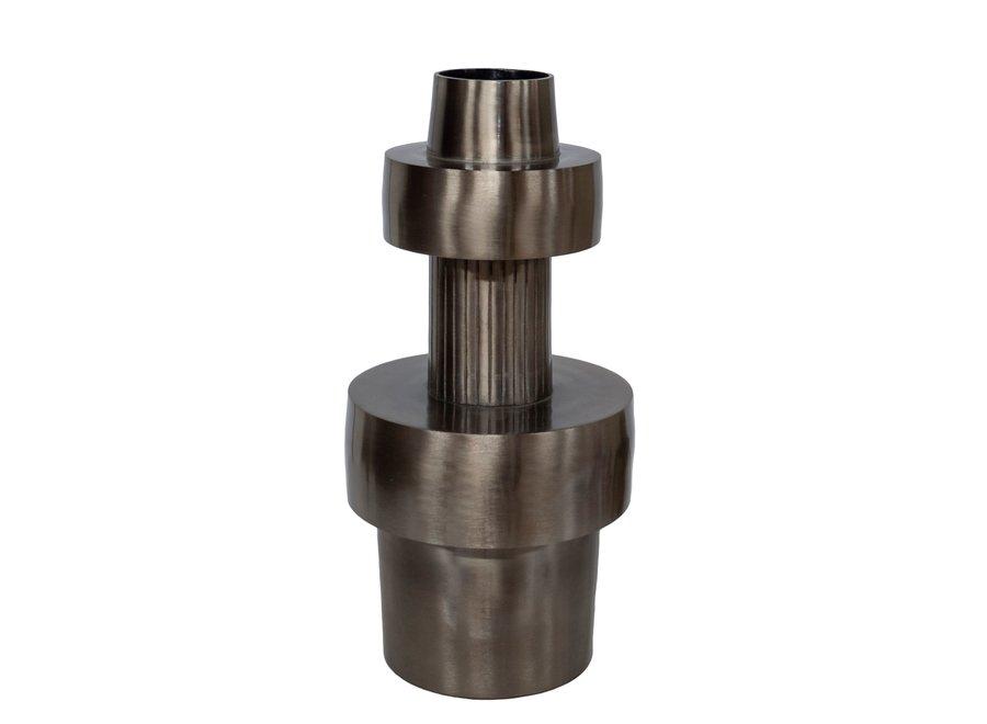 Aluminium vaas 'Toba'