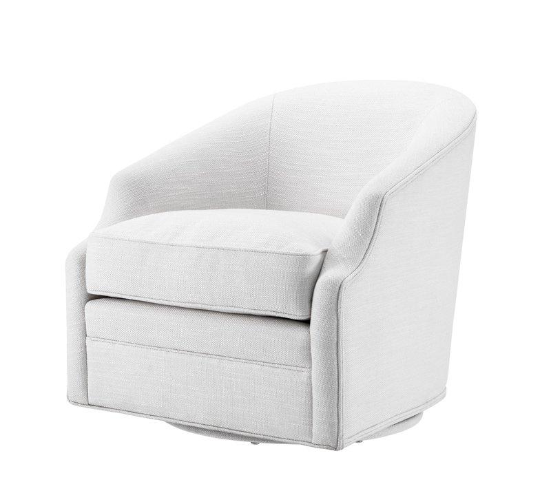 Swivel armchair 'Gustav' Avalon White