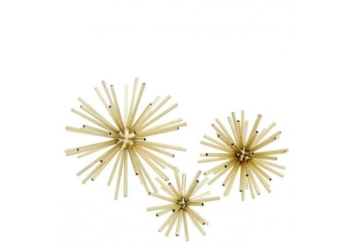 EICHHOLTZ Decoratie object 'Meteor' set van 3 - Gold