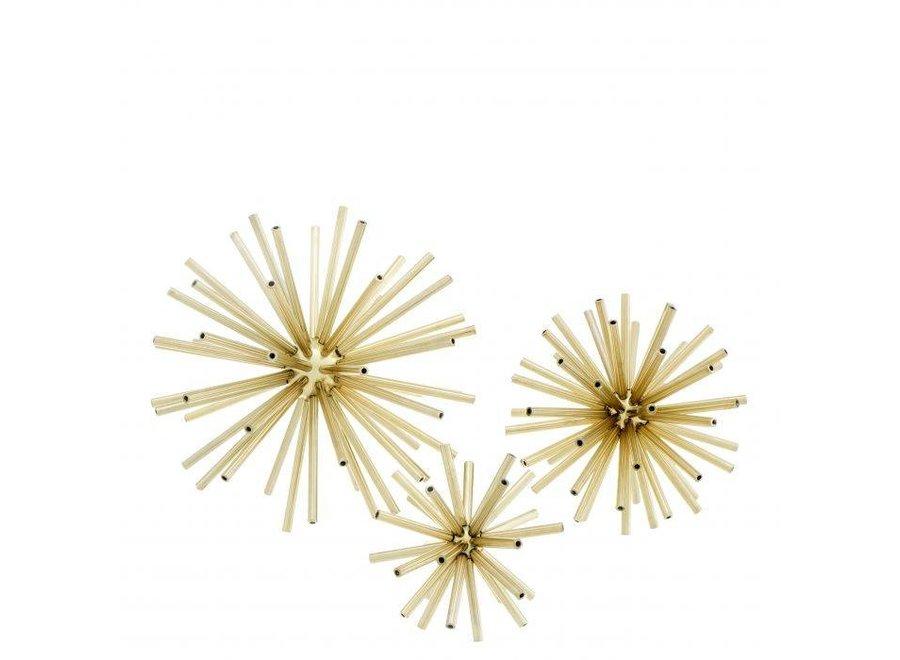 Decoratie object 'Meteor' set van 3 - Gold