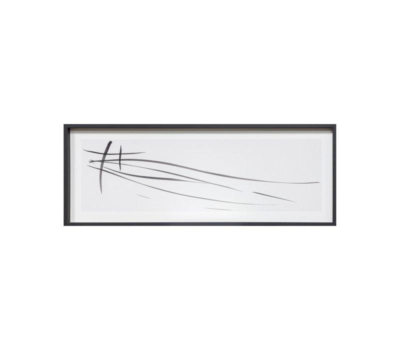 Print 'Kyoto'  in black frame