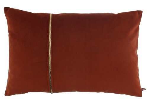 CLAUDI Cushion Rosana Copper + gold zipper
