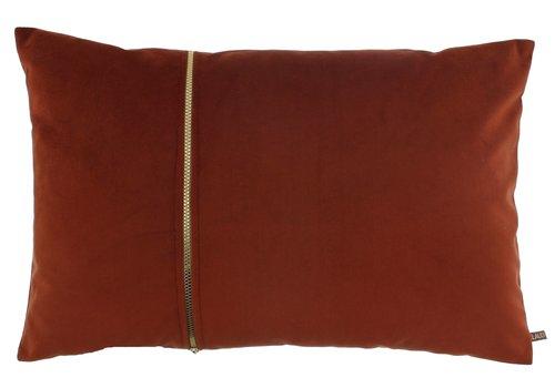 CLAUDI Kissen Rosana Copper + gold zipper
