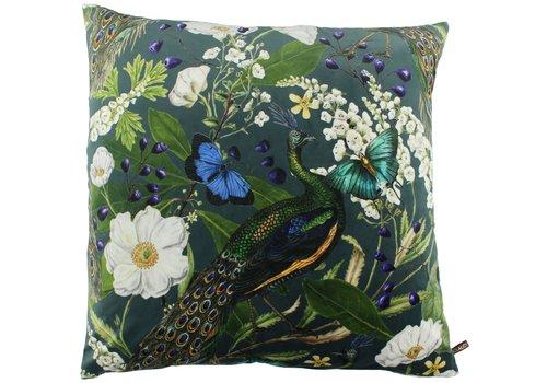 CLAUDI Cushion Bibi Peacock Petrol