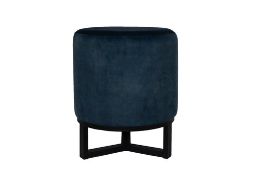 Dome Deco Round footstool 'Flynn' Blue
