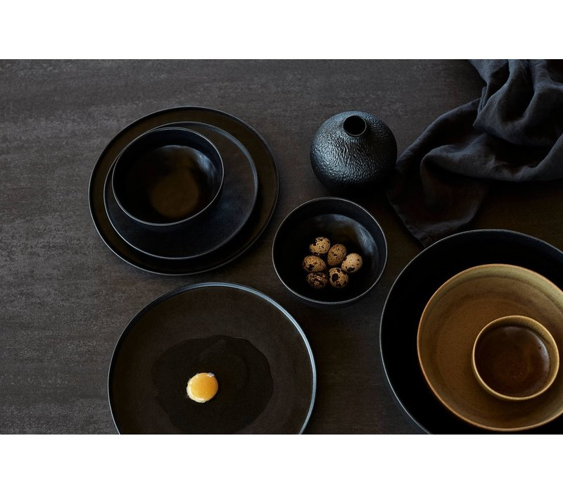 Breakfast bowl 'Ceto' - set of 2 - in the color Black