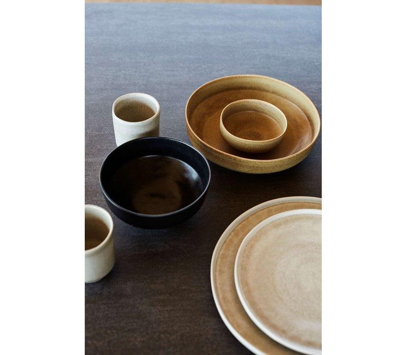 Frühstücksteller 'Ceto' - 2er-Set - in der Farbe Schwarz