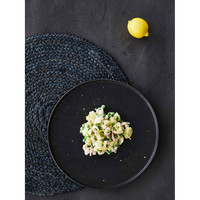 Breakfast plate 'Ceto' - set of 2 - in the color Black