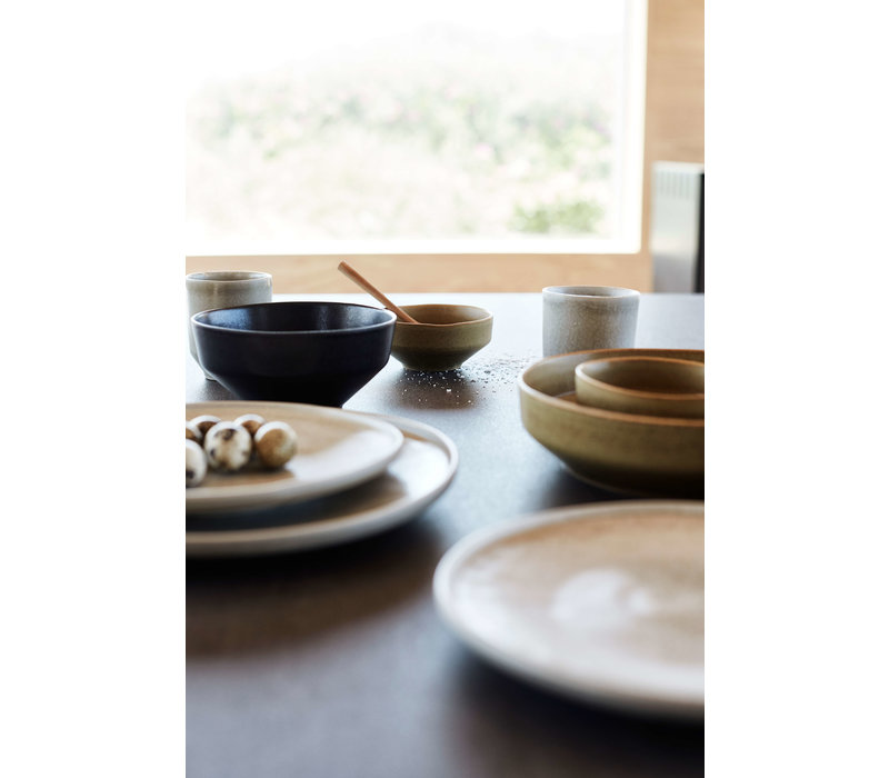 Frühstücksschale 'Ceto' - 2er-Set - in der Farbe Soft Grey