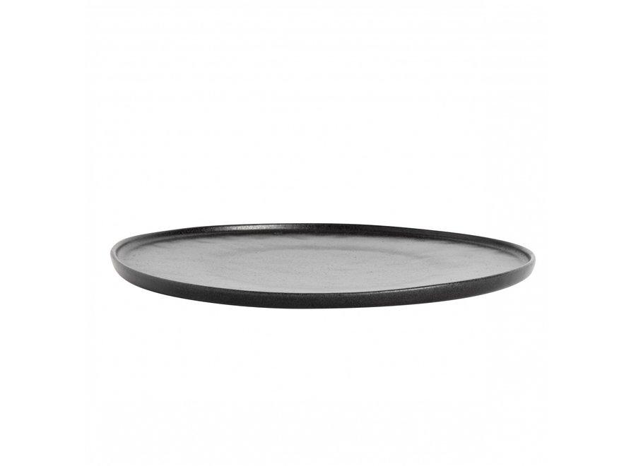 Dinerbord 'Ceto' Black - set van 2