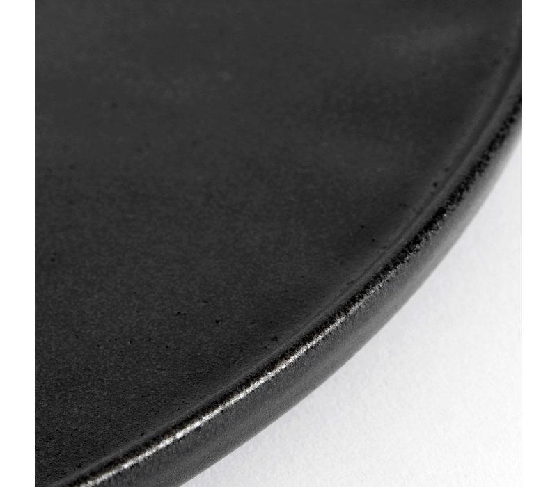 Dinerbord  'Ceto' - set van 2 - in de kleur Black