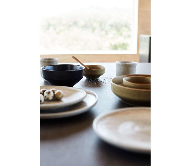 Dinerbord  'Ceto' - set van 2 - in de kleur Soft Grey