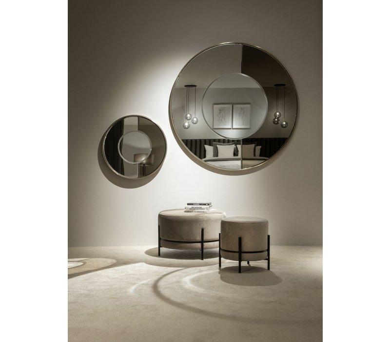 Der runde Spiegel 'Gold & Bronze' hat einen Durchmesser von 60cm