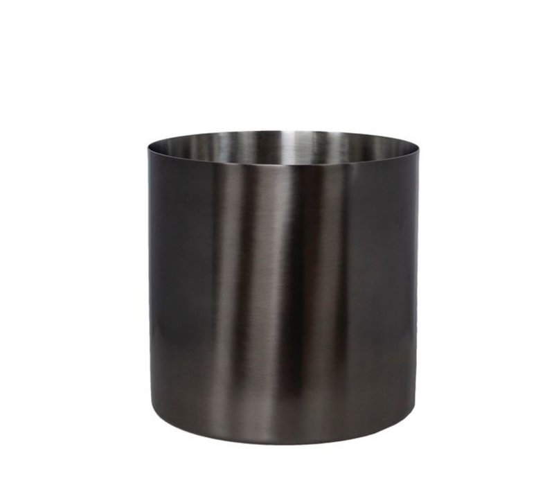 Modern wine cooler in anthracite metal