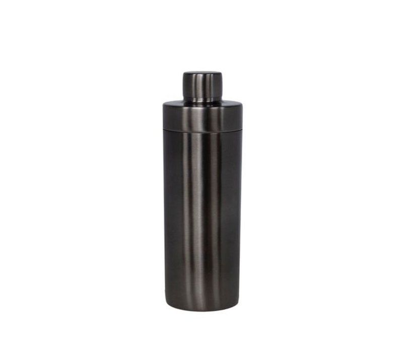 Modern cocktail shaker in anthracite metal