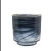 Dome Deco Glas Teelicht 'Alabaster' schwarzes Glas mit Goldrand