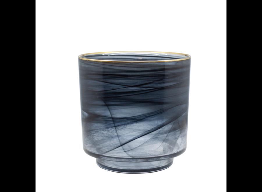 Glazen theelicht 'Alabaster' - M