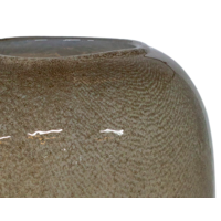Glass vase 'Beige'
