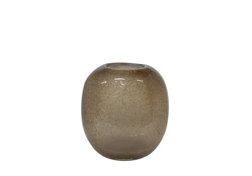 Dome Deco Glass vase 'Beige' - S